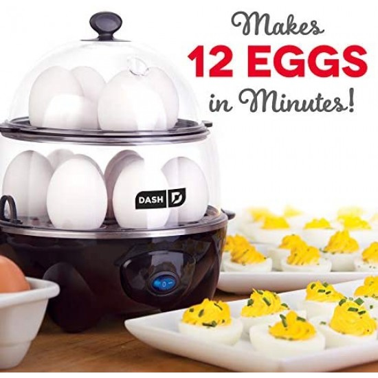 Dash DEC012BK Deluxe Rapid Egg Cooker Electric for for